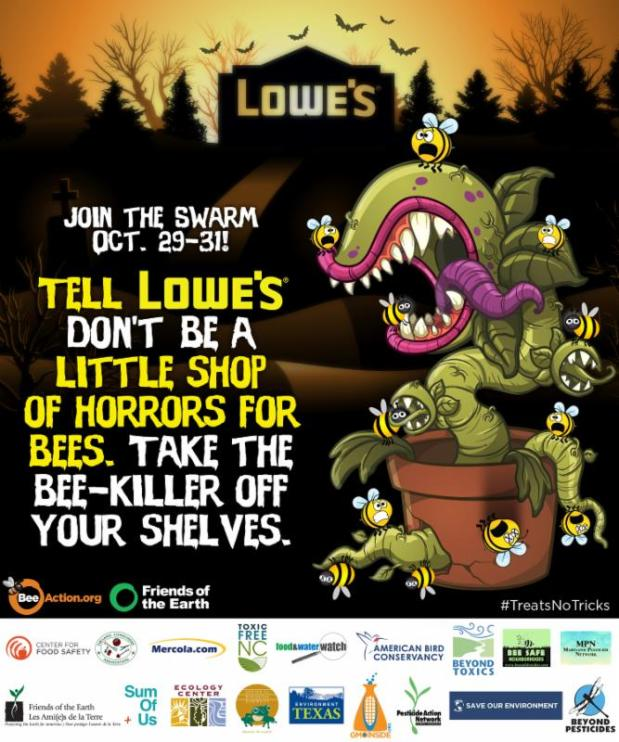 """Treats No Tricks"" this Halloween: Supporting Bee Safe Neighborhoods and Friends of the Earth"